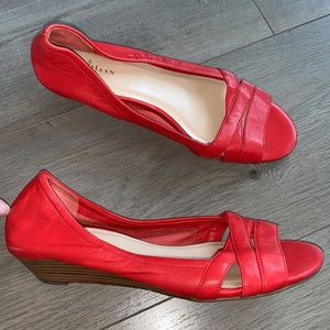 Cole Haan Red Open Toe Shoe 7